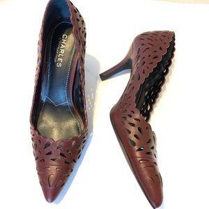 Shoes - Charles By Charles David Taken Burgundy Teardrop 8